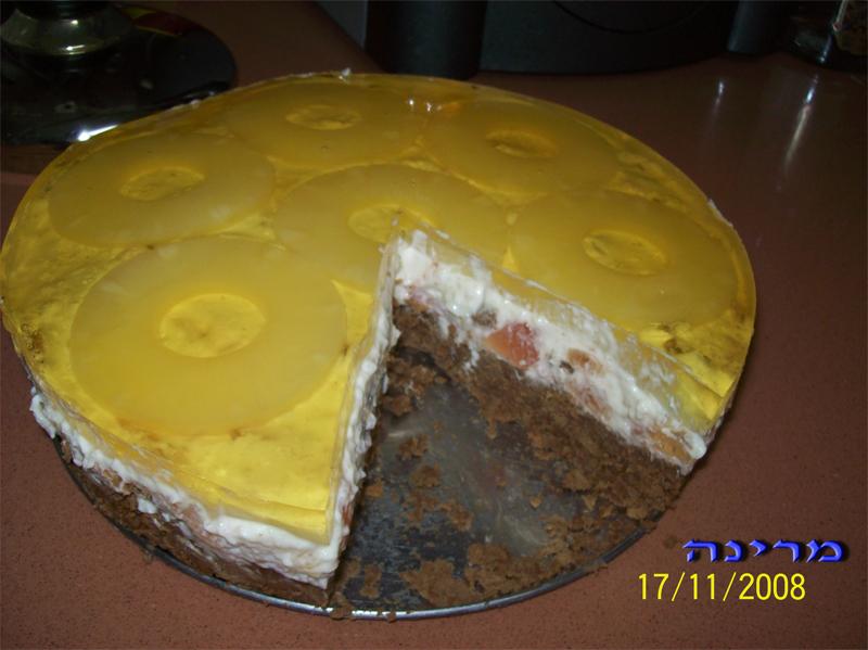 Холодный творожный торт