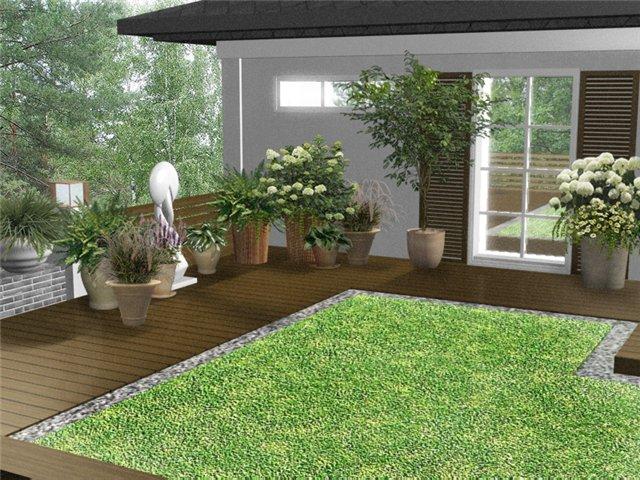 Ландшафтный проект сада сад на крыше
